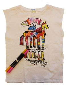 Horse colouring T-shirt