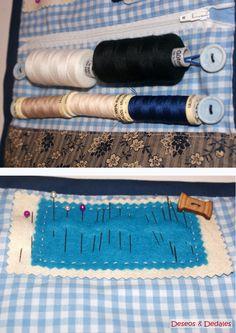 Hola, por fin he acabado el primer proyecto que tenía para este año: un costurero de tela. Como ya os comenté, los reyes me trajeron un cos...