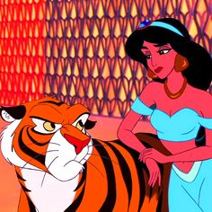 "Jasmine and Rajah, having a ""Really?"" moment"