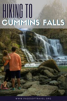 In the tiny town of Cookeville, Tennessee you'll find Cummins Falls State Park and inside the park, a breathtaking waterfall. Cummins Falls is Tennessee's eighth largest waterfall and is a whopping 75 feet high.  Day Trips from Nashville | Tennessee | Waterfalls | Hiking | United States