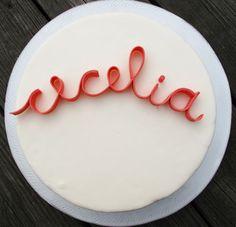 Sugar Script Letter cake toppers
