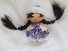 Текстильная малышка- брюнеточка – купить в интернет-магазине на Ярмарке Мастеров с доставкой