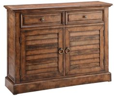 Shop for Stein World Theodore Chest, and other Living Room Cabinets at Americana Furniture Barn in Waterford, CT. A weathered finish, two drawers and two louvered doors distinguish this eye-catching accent piece. Living Room Cabinets, Living Room Furniture, Home Furniture, Cabinet Furniture, Furniture Storage, Traditional Cabinets, Traditional House, Sofa End Tables, Wood Chest