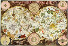 Caminos de estrellas en los cielos antiguos: Mapa celeste del siglo XVII elaborado por el cartógrafo alemán Frederik de Wit