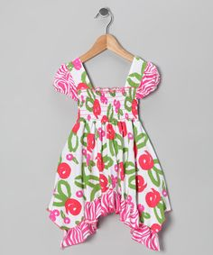Take a look at this White Brush Rose Smocked Dress - Infant, Toddler & Girls by Corky's Kids on #zulily today!