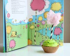 Truffula Tree Cupcake Toppers