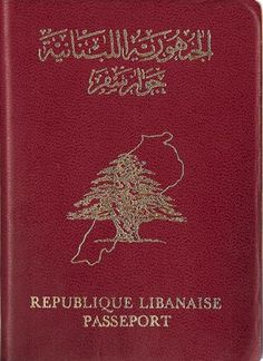 Lebanese old passport