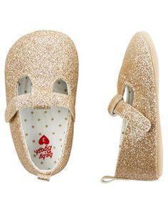 OshKosh Sparkle Mary Jane Crib Shoes