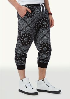 Black/White Paisley Jogger | Athleisure | rue21