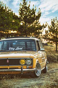 Lada 2103 Low #cars #love #chrome #retro #russian #engine #sky #moscov #iphone £background