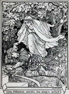 Story of the King who would be Stronger than  Fate - The Brown Fairy Book by Andrew Lang, 1904