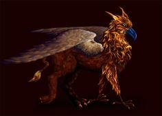 fiery griffin by Ankaraven on DeviantArt