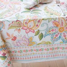 LEAF PRINT COTTON TABLECLOTH AND NAPKIN - Tablecloths & Napkins - Tableware | Zara Home United Kingdom