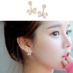 Cute Bow Two-Way Earrings.