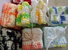 Dish Cloths Wash Cloths Facial Clothsset of 2 your by grammalea, $5.75