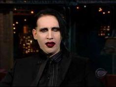 Marilyn Manson on Letterman in 2003