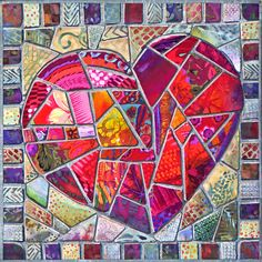 Love You to Pieces Mini Heart quilt by Nancy Messier