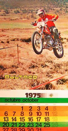Bultaco vintage motorcycle calendar 1975