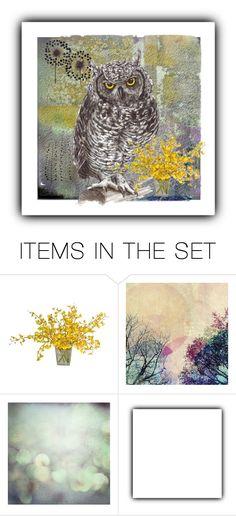"""Night Owl"" by dorataya ❤ liked on Polyvore featuring art, owl, artexpression and dorataya"
