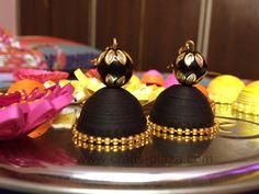 black and gold paper jhumki