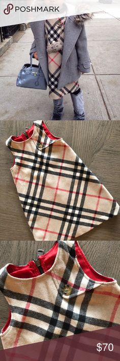 Girls Burberry wool dress Size 3 excellent condition. Authentic. 70$ is lowest price I can go. It cost 240$ new and is in great condition Burberry Dresses Casual