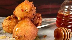 Corn Fritters with Spicy Honey Recipe The Chew Recipes, Honey Recipes, Dog Food Recipes, Cooking Recipes, Recipes Appetizers And Snacks, Finger Food Appetizers, Yummy Appetizers, Desserts, Finger Foods