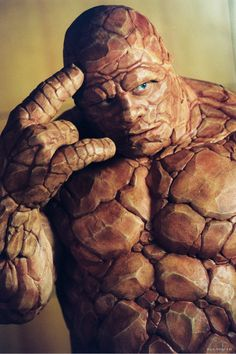 Michael Chiklis as Ben Grimm in Fantastic Four. He may look mean as a door stopper but his character had a softie side Marvel Vs, Marvel Heroes, Marvel Comics, Movie Characters, Marvel Characters, Fantastic 4 Movie, Michael Chiklis, Avengers Age, Fantasy Dragon