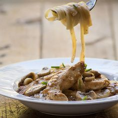 The ideal dish to eat in front of the fire with a fork or to serve to a large group for a fork supper. Good for a book club supper with buttered tagliatelle and a salad. Chicken Minis, Mushroom Chicken, Mushroom Pasta, Pork Fillet, Tomato Pesto, South African Recipes, Beef Steak, How To Cook Chicken, Pasta Dishes