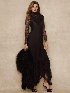 Gojee - Long Vintage Geraldine Dress by Ralph Lauren - a al Stevie Nicks!  I love this style!