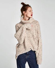 OVERSIZED ROLL NECK SWEATER-Sweaters-KNITWEAR-WOMAN | ZARA United States