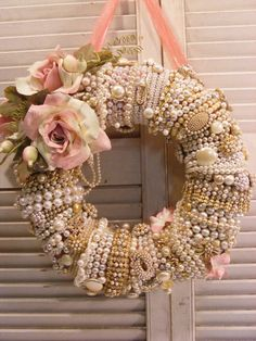 8 Blessed Tips: Shabby Chic Home Ana Rosa shabby chic frames dreams.Shabby Chic Diy Home. Couronne Shabby Chic, Shabby Chic Kranz, Rosa Shabby Chic, Cocina Shabby Chic, Shabby Chic Wreath, Shabby Chic Crafts, Shabby Chic Kitchen, Shabby Chic Homes, Shabby Chic Style