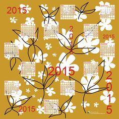 2015 printable calendar. Large wall calendar. 2015 by DreamyMeisme PINME123 Promo code available now!