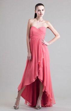 Jenny Yoo Shiloh Strapless High Low Silk Chiffon Gown SANGRIA SIZE 8 #437  NWT #JennyYoo #Formal