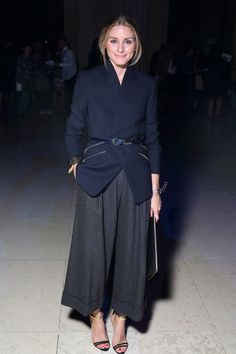 Olivia Palermo   Reiss blazer   Michael Kors culottes   Whistles belt