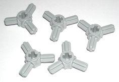 LEGO 5 Light Bluish Gray Technic Axle Connector Hubs with 3 Axles 70752 #LEGO