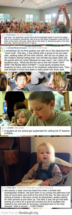 Kids at school can be funny