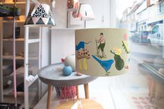 Painted Lampshade for Vanil - Polly Fern