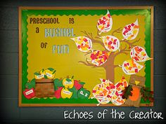 Echoes of the Creator: bulletin boards Interactive Bulletin Boards, Teacher Bulletin Boards, Preschool Bulletin Boards, Classroom Bulletin Boards, Classroom Crafts, Classroom Ideas, Toddler Classroom, Fall Preschool, Preschool Crafts