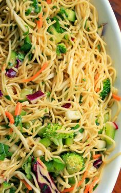 Noodles Salad With Sesame Garlic Dressing