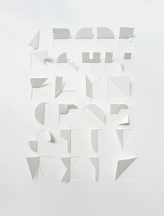 Gina Hollinsdworth | paper typography ✭ graphic design inspiration