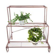 Metal Plant Stand 3 Tier Flower Pot Holder Outdoor Garden Patio Planter Bronze | eBay