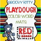 This groovy kitty can spell his color words!  Fun playdough font was used to create playdough color word mats for the following colors:RedOrange...
