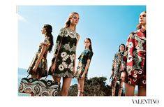 Valentino SS2015 campaign. photographed by: Michal Pudelka of Slovakia. Models Maartje Verhoef, Grace Simmons, Hedvig Palm, Vanessa Moody and Clémentine Deraedt