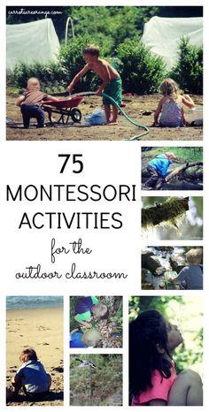 Montessori Outdoor Activities and ideas