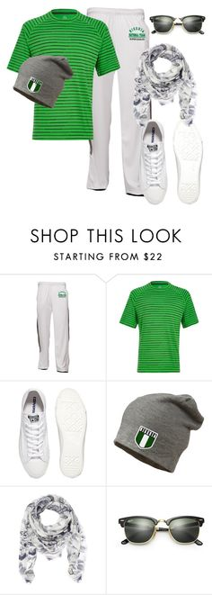 """""""Dapper Nigerian Supporter"""" by missjackee-mbus on Polyvore featuring Tasc Performance, Converse, Gucci, Ray-Ban, men's fashion and menswear"""
