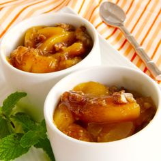 Baked Peaches starts with a bag of frozen peaches (you add 4 other pantry items) and is on the table in less than 30 minutes.  It's delish and you can enjoy this guilt free!  #MyAllrecipes   #AllrecipesAllstars  #AllrecipesFaceless    #BakedPeaches  #dessert  #peaches