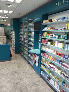 Pharmacy Store, Drug Store, Pharmacy Design, Retail Design, Elk City, Stair Railing Design, Shop Counter, Shelf Design, Ceiling Design