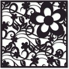 Silhouette Design Store: background - flourished flower garden