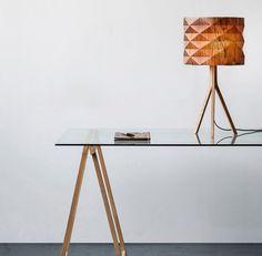 handmade veneer lighting high end design, standing lamp, natural look
