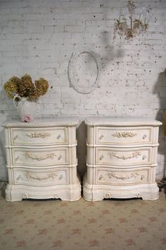 Etsy Painted Cottage Shabby Chic Romantic Painted Night Table NT942. Bedroom. Home decor
